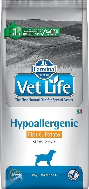 Vet Life Dog Hypoallergenic Fish & Potato 2 кг