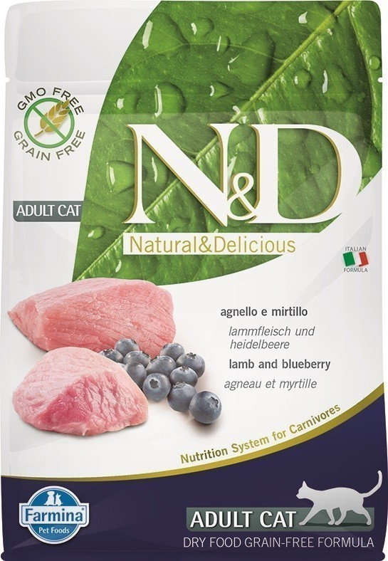N&D Cat Lamb & Blueberry Adult 1.5 кг
